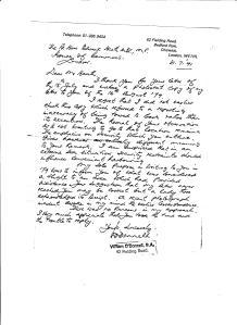 William Response 31.07.1991